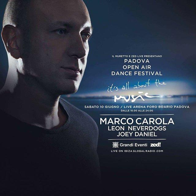 Marco Carola Padova 10 Giugno 2017