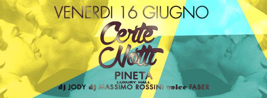 Pineta Milano Marittima 16 06 2017 Certe Notti