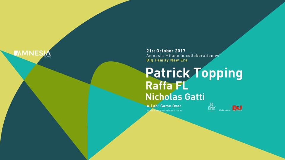 AMNESIA MILANO 21 10 2017 Patrick Topping Prezzi Ticket Biglietti Prevendite Tavoli Pacchetti Hotel Bus