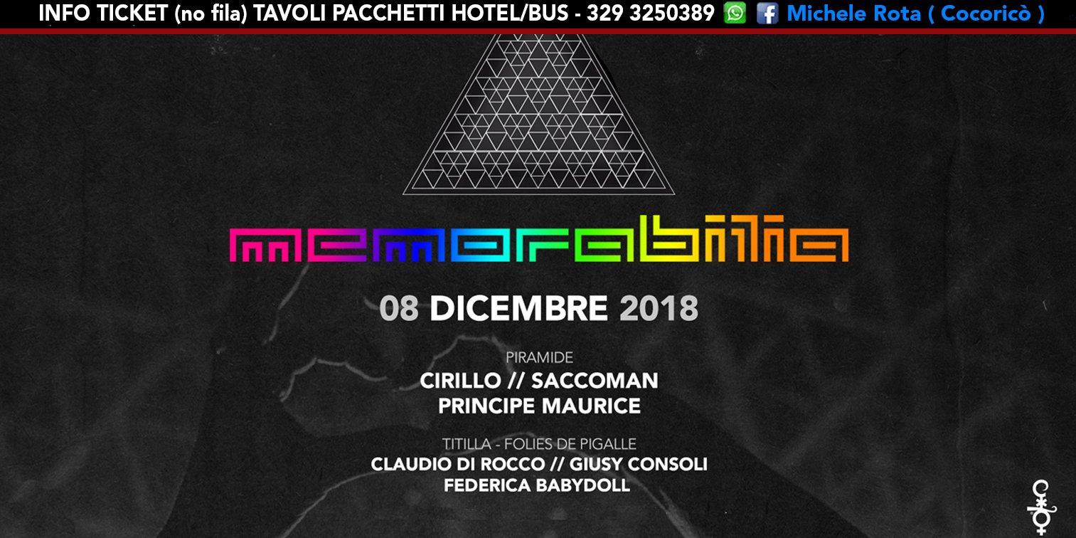 Memorabilia Cocorico 08 12 2018 Ticket Pacchetti Hotel