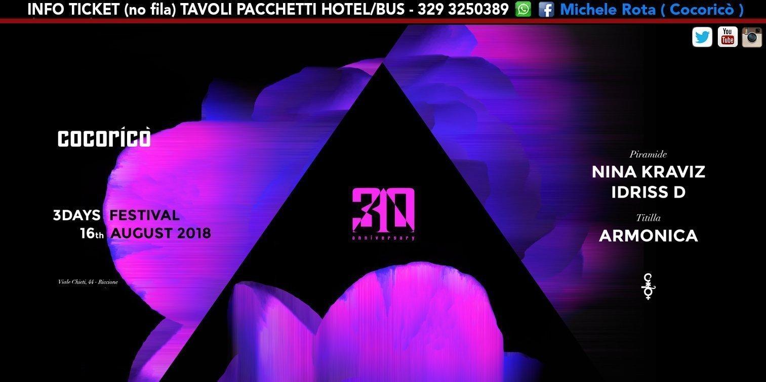 Nina Kraviz Cocorico 16 Agosto 2018 Ticket Tavoli Pacchetti Hotel