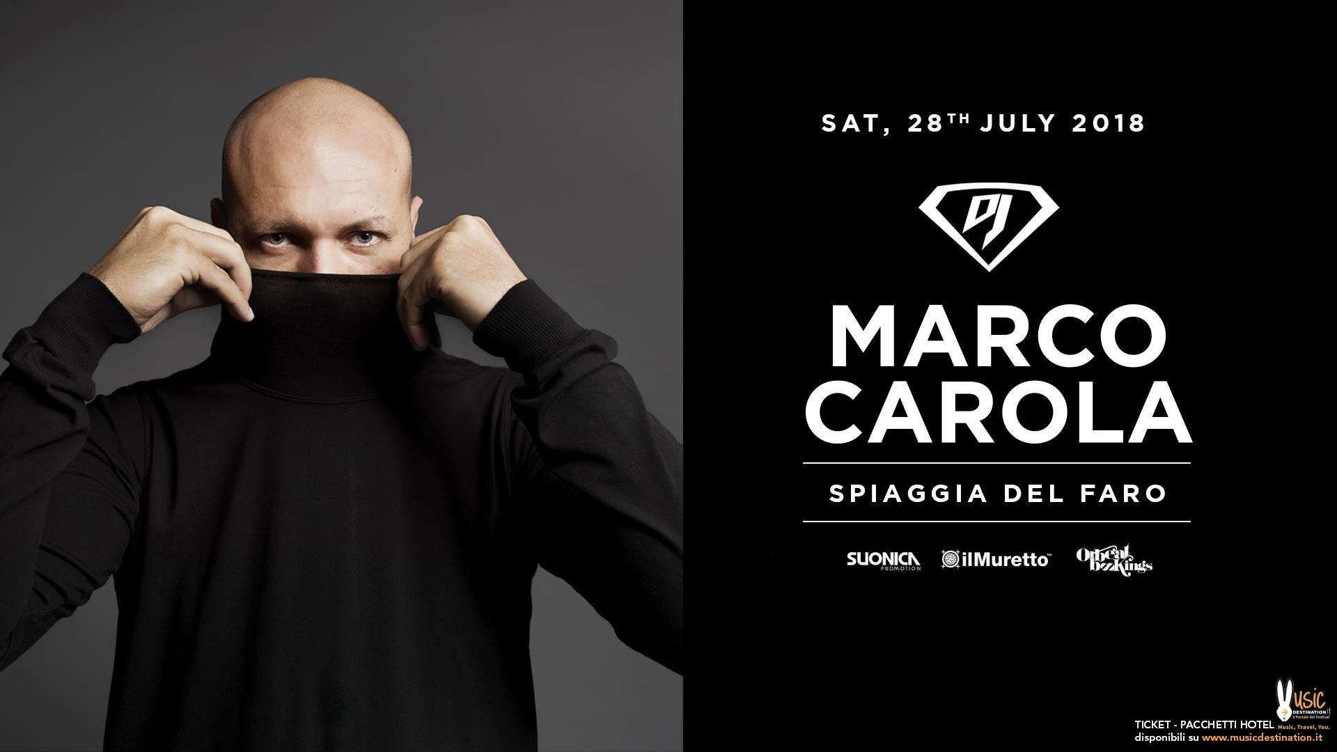 Marco Carola Spiaggia Del Faro 28 Luglio 2018