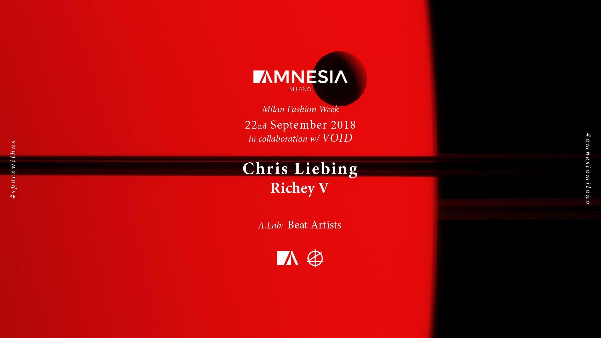 Chris Liebing Amnesia Milano 22 Settembre 2018