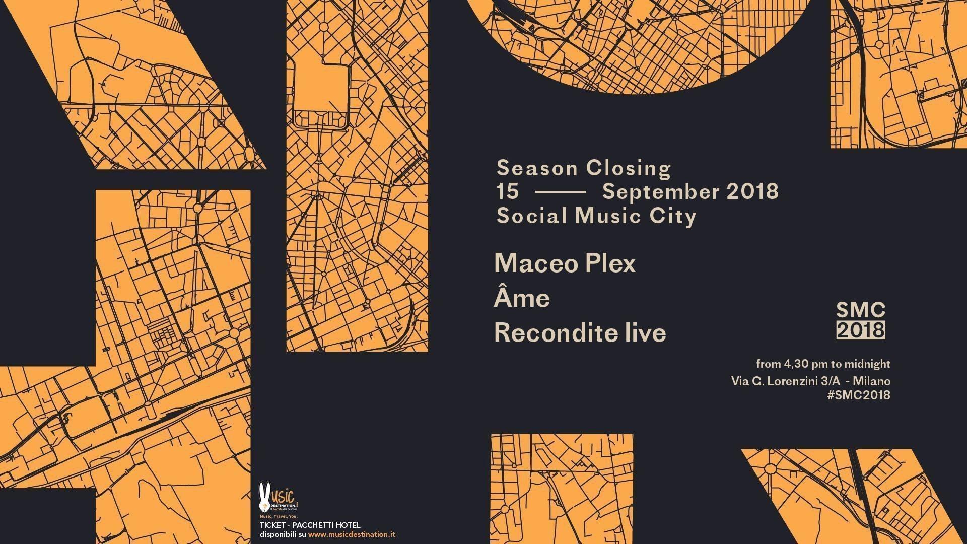 Maceo Plex Social Music City 15 Settembre 2018