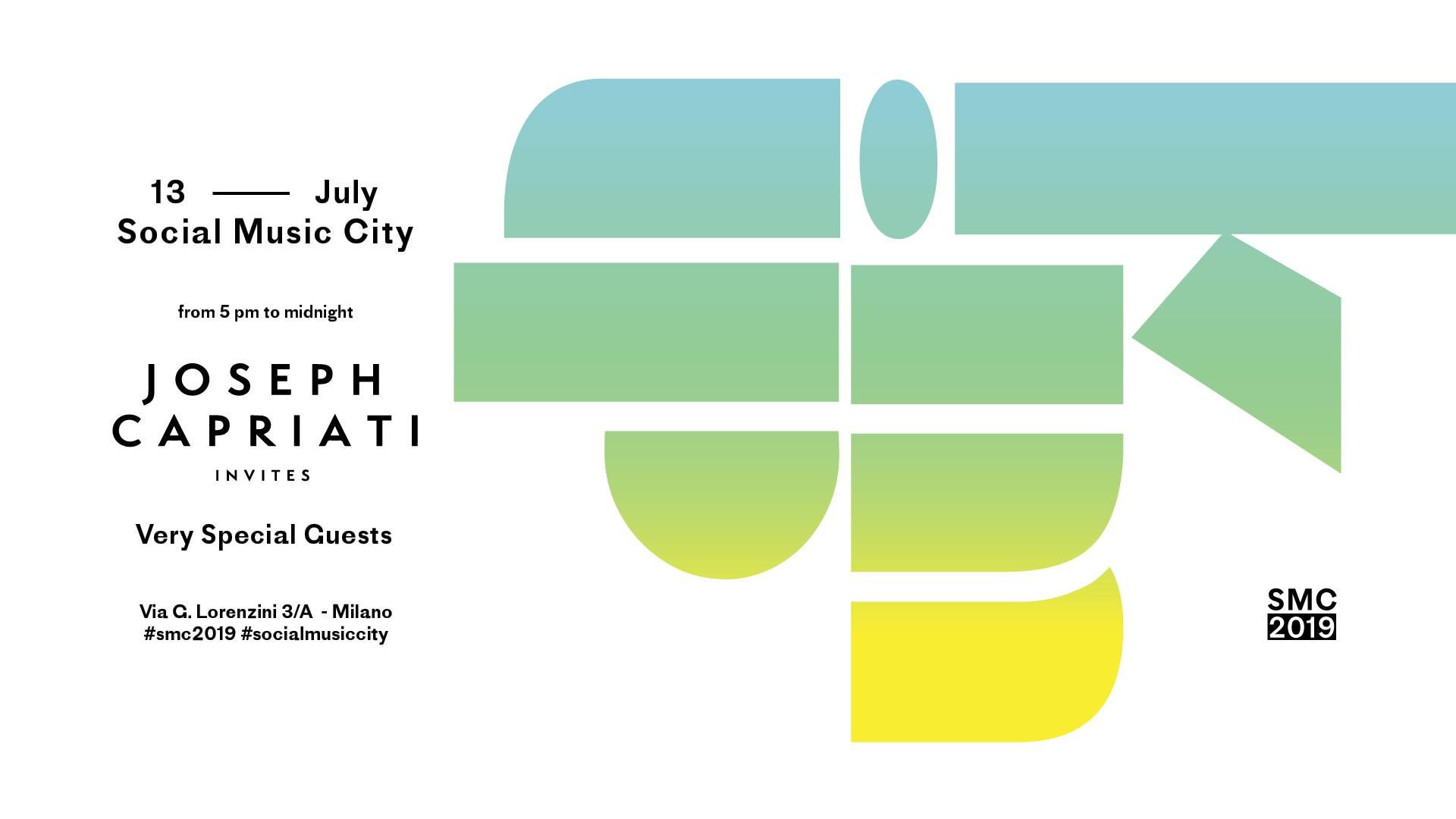 Joseph Capriati Invites Social Music City 12 Luglio 2019