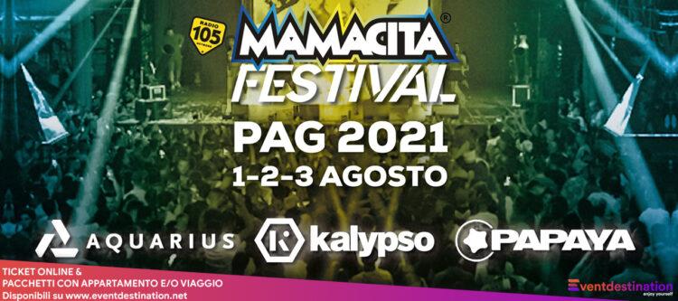 Mamacita Festival 2021 Pag Zrce Beach Biglietti Pacchetti Hotel