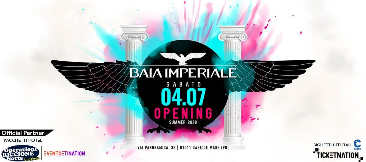 Baia Imperiale Sabato 4 Luglio 2020 Opening Party