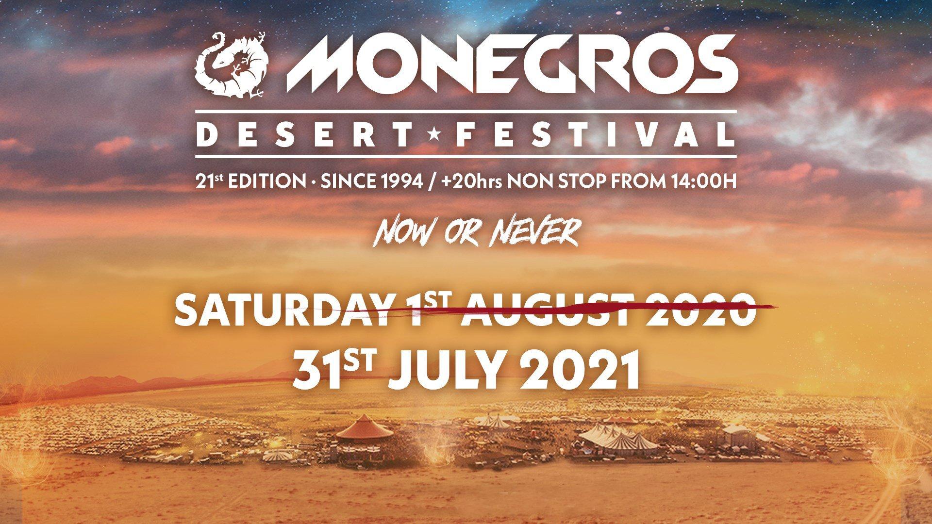 Monegros Desert Festival 2021 – Fraga Spagna – Sabato 31 Luglio 2021